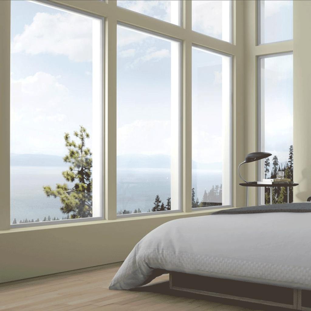 aluminum picture windows in bedroom