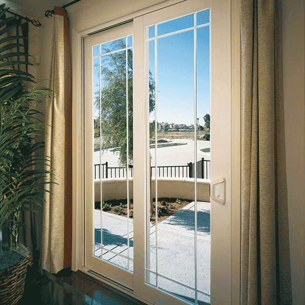 vinyl sliding glass door