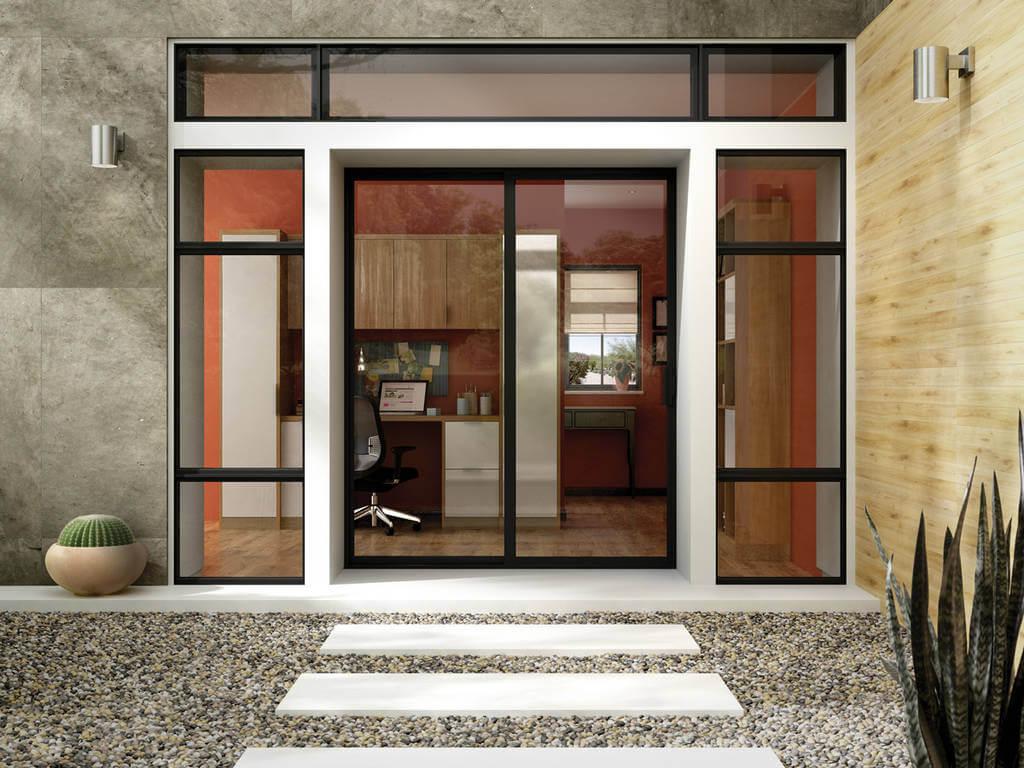 durable sliding glass front door