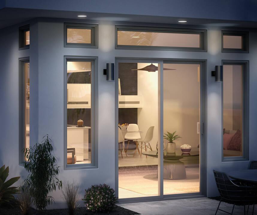 trinsic door exterior sliding glass door