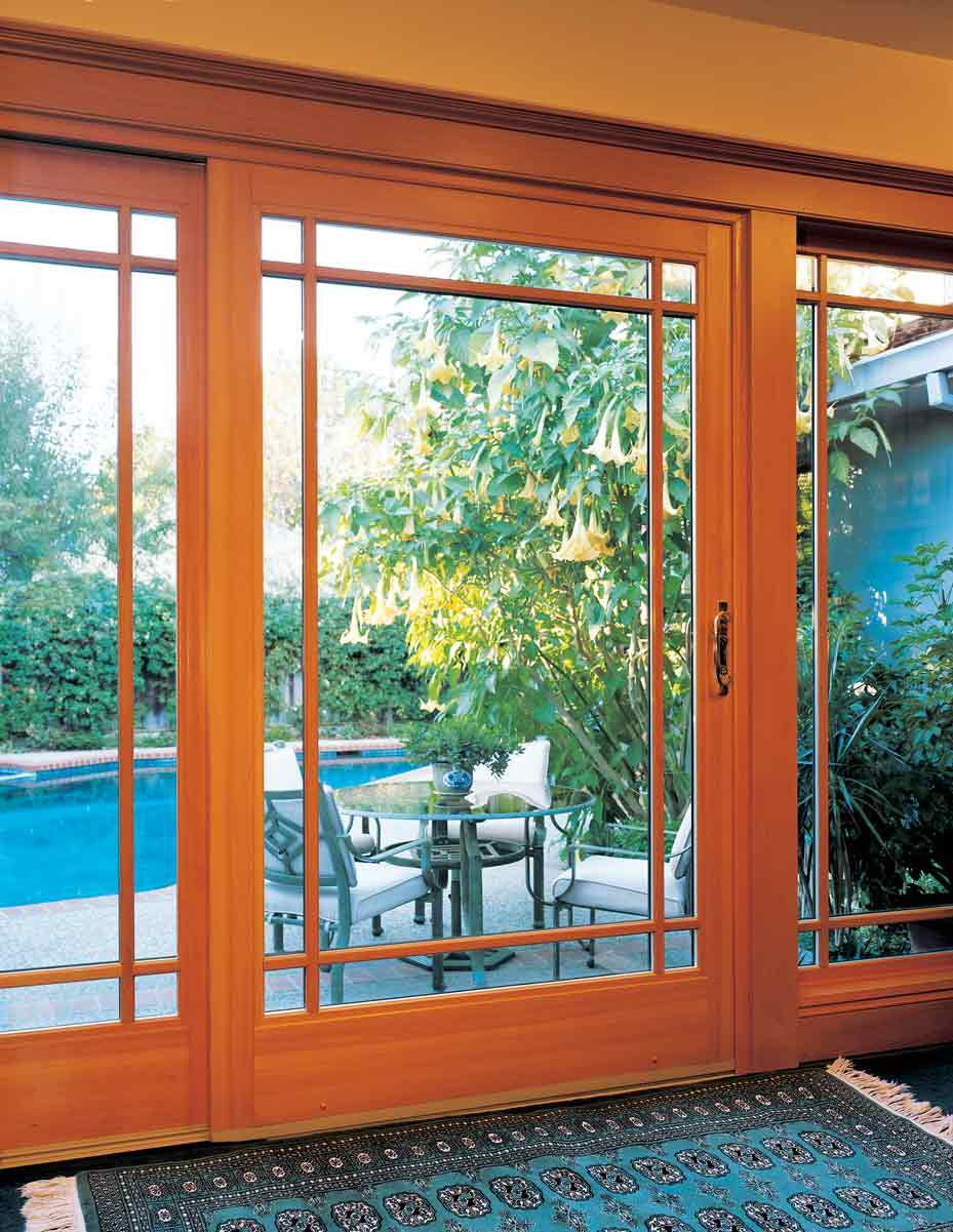 Wood French Rail Patio Doors in San Diego