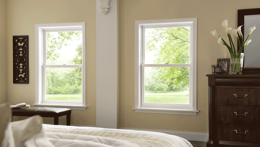 Pair of Double Hung Windows