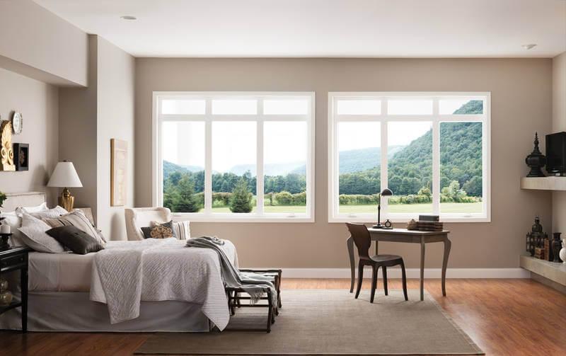 milgard new style line windows in the bedroom