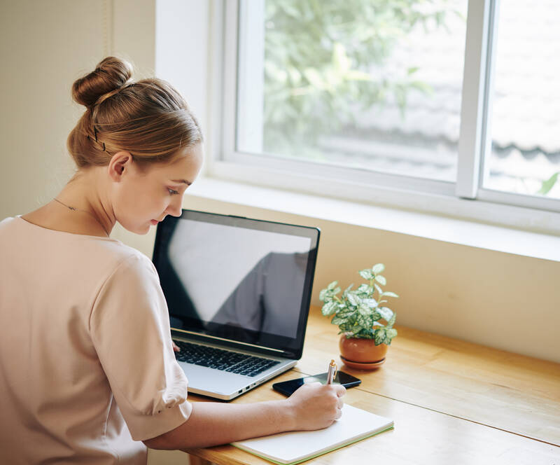 Working In Front Of Window
