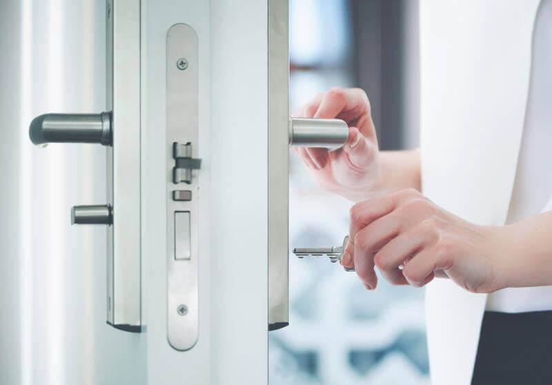 door hardware and security