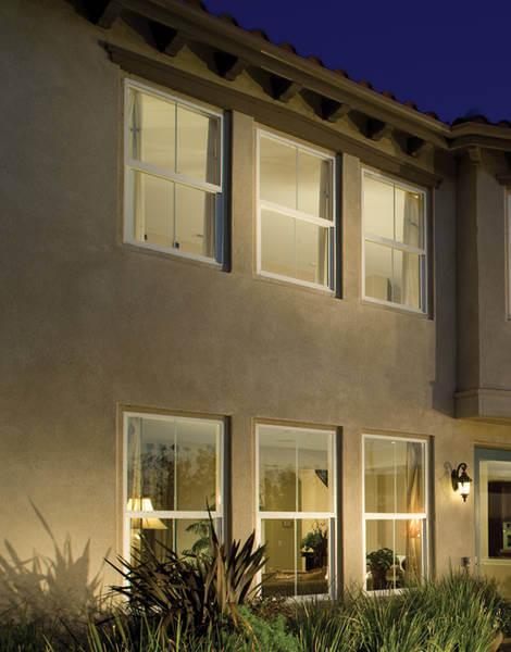 style line vertical sliding window