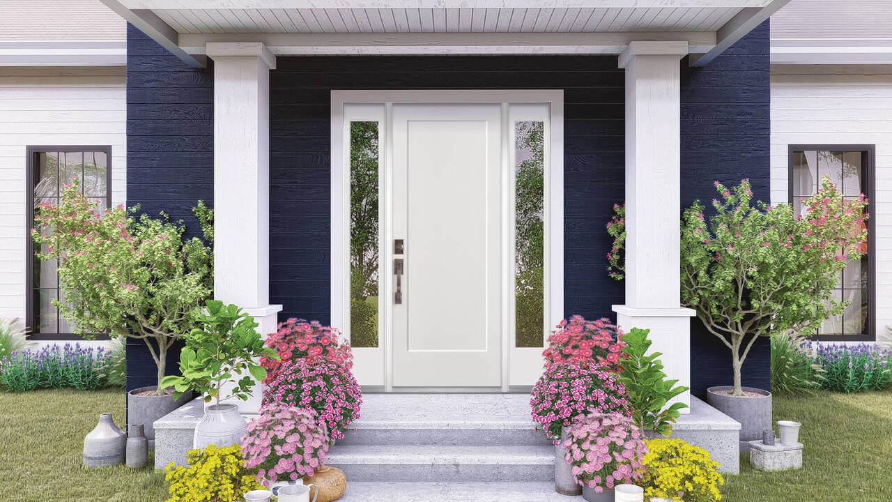 masonite front door in white