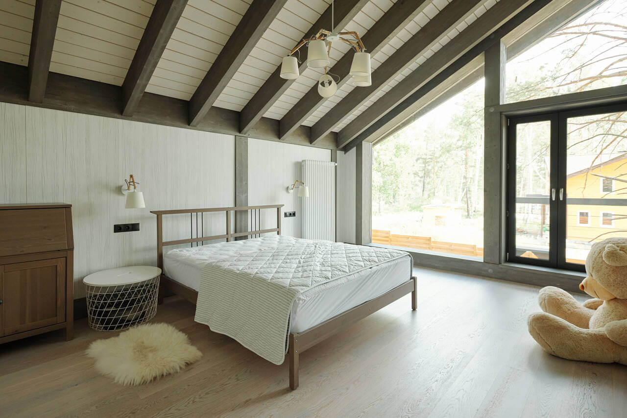 bedroom with picture window