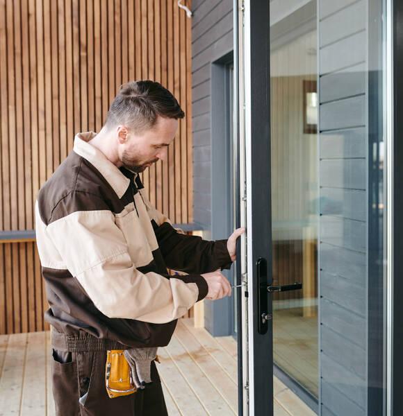 fixing a sliding glass door