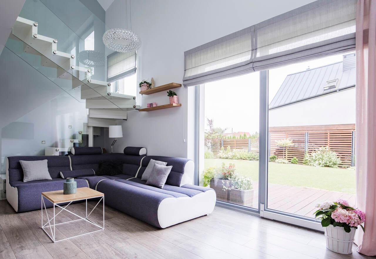 sliding glass patio door providing natural light