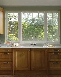 fiberglass windows in the kitchen