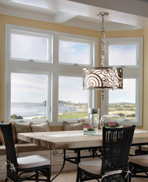 milgard tuscany windows in dining dining room with a view