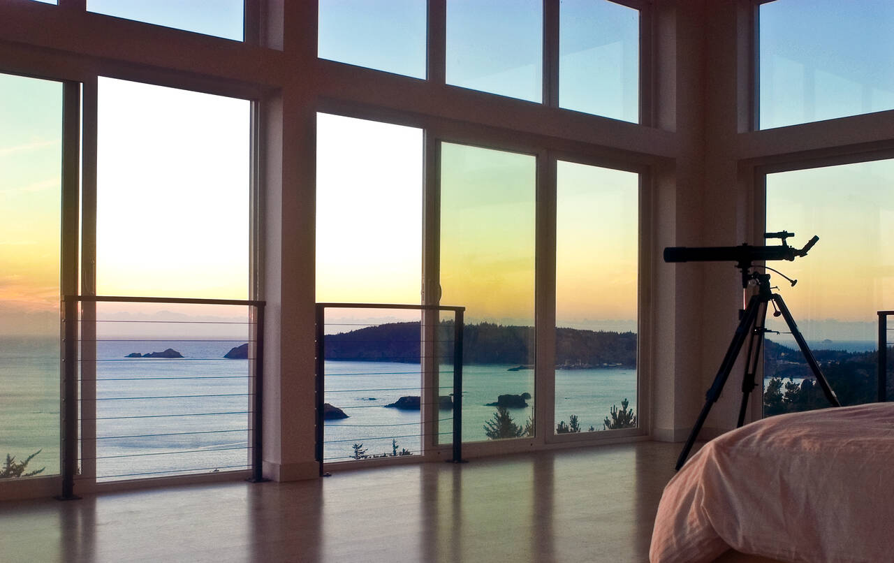 coastal view from beach home with new windows