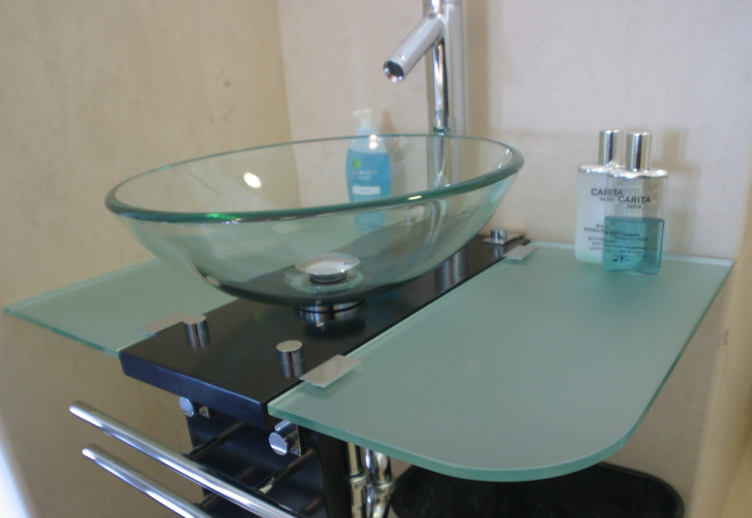 Glass Bathroom Vanity