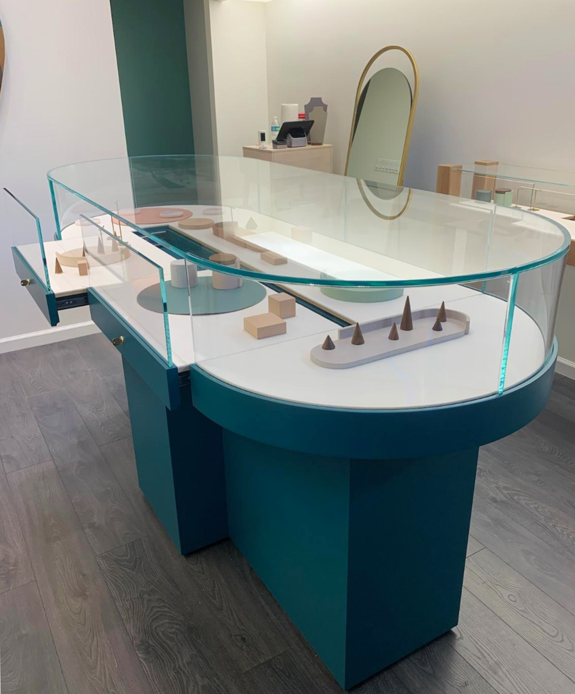 Bent Glass Custom Display Case
