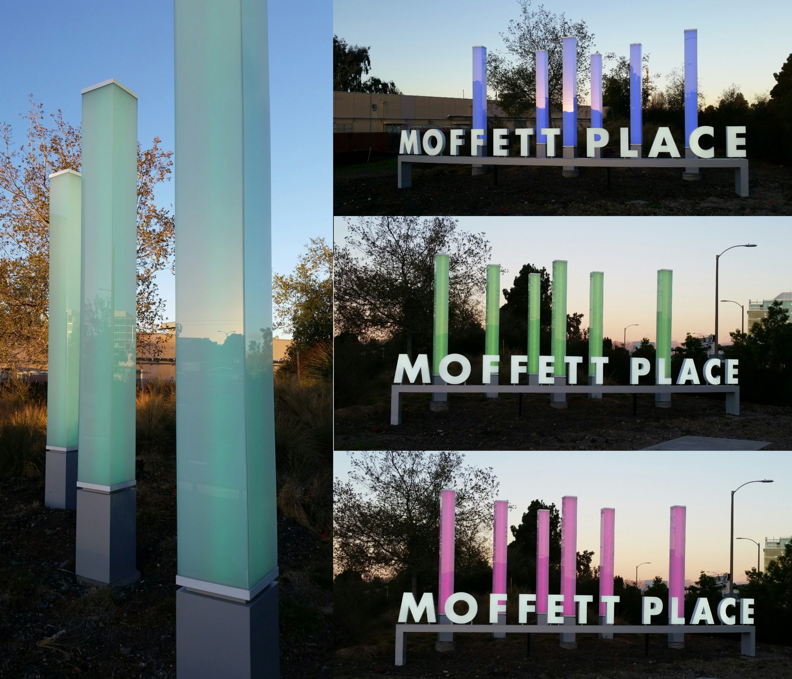 Moffett Place Sign Glazing