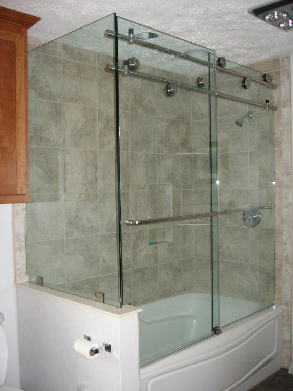 Frameless Double Slide Corner Enclosure