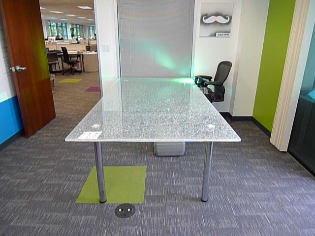 Crackle Glass Office Table