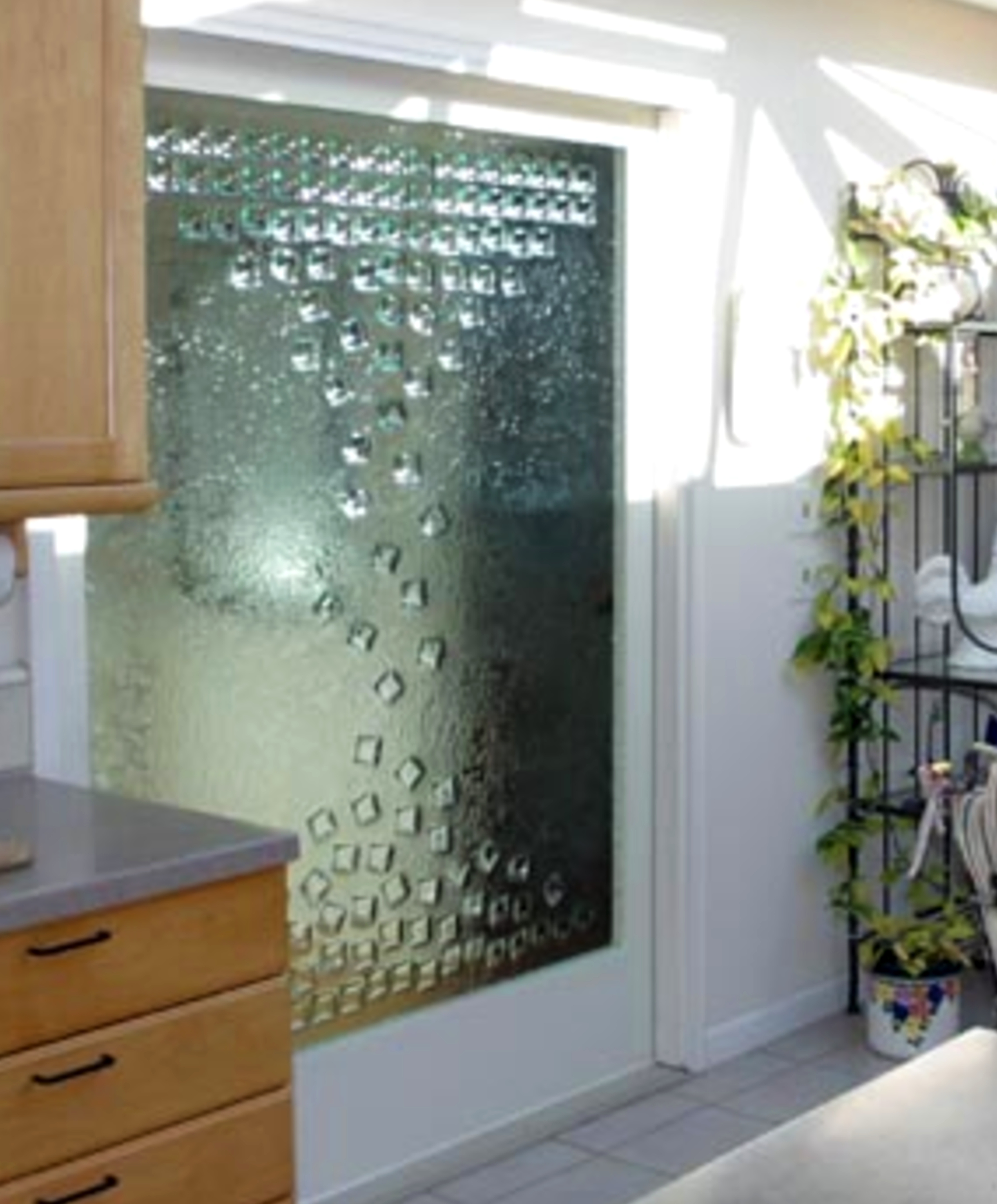 Custom Slumped Glass Door