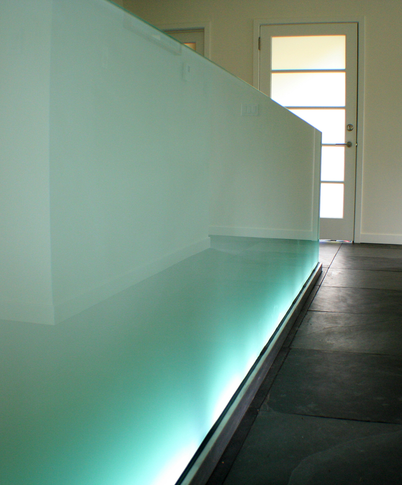 Glass LED Light Railing