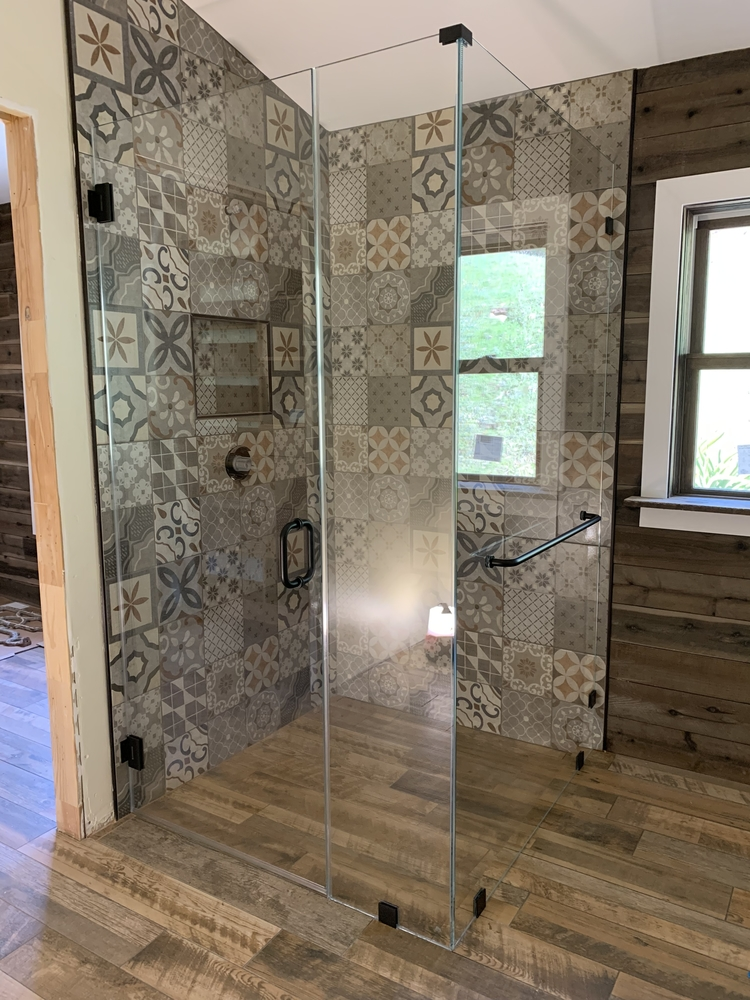 Curbless Corner Shower Enclosure