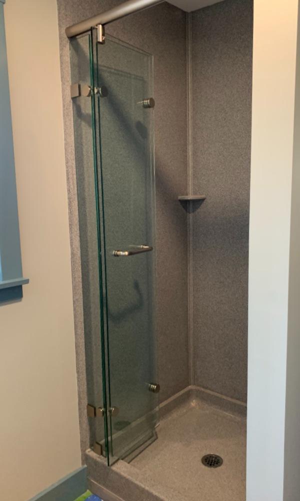 Bi-fold Shower Door Hinged to Panel