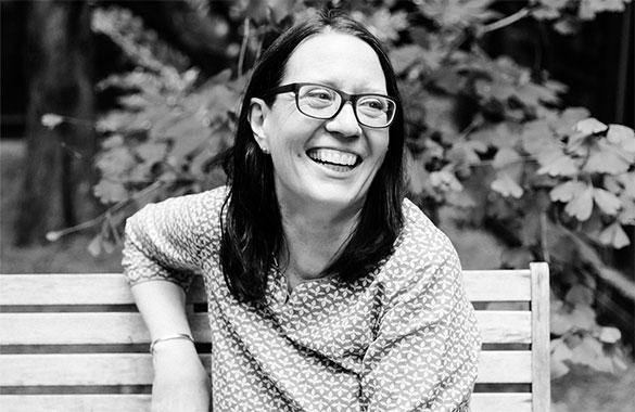 Susanne Etti laughing.