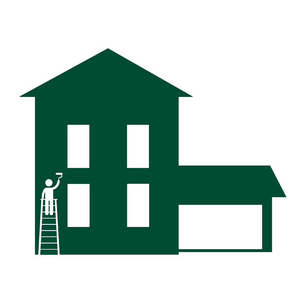 a painter painting a house icon