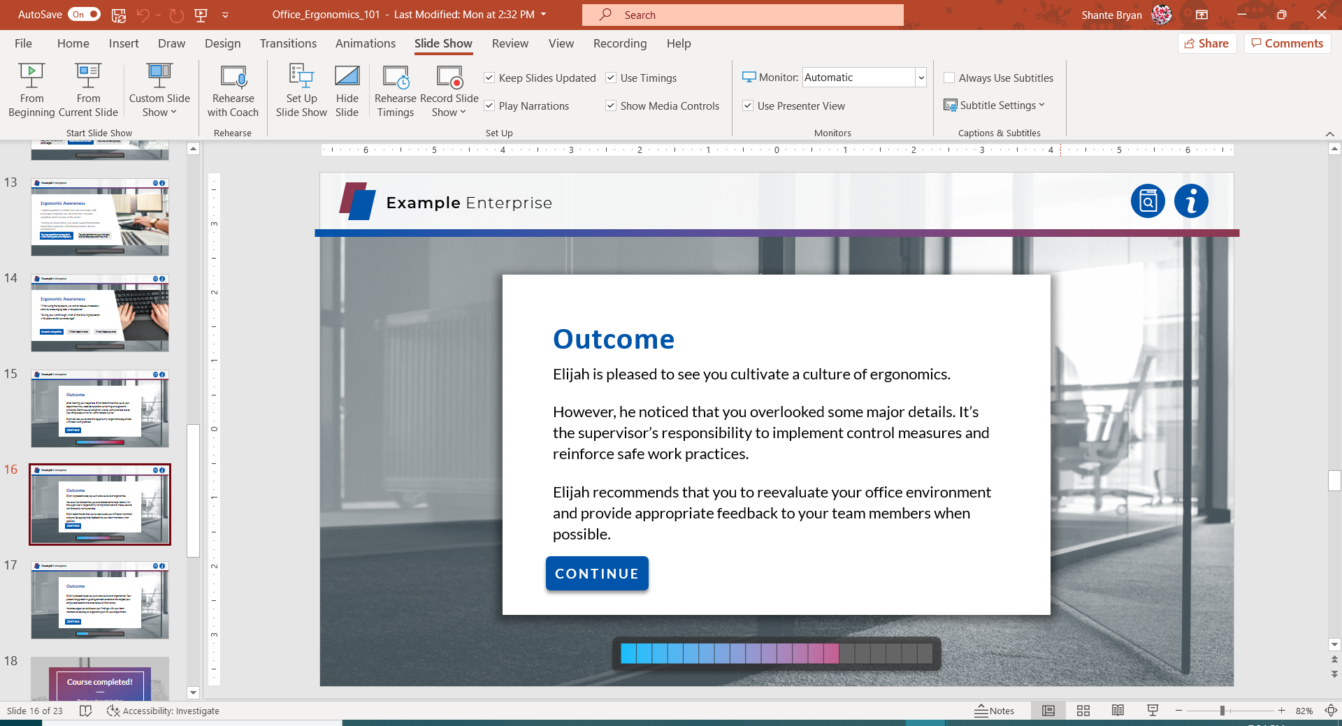 Wireframe in Microsoft PowerPoint