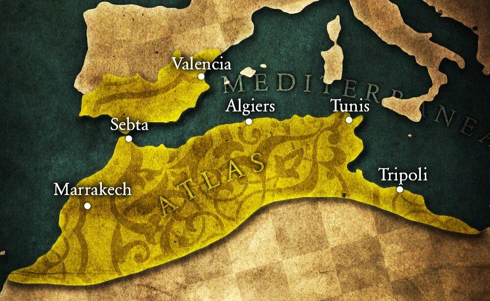 Le Califat Almohade à son apogée.