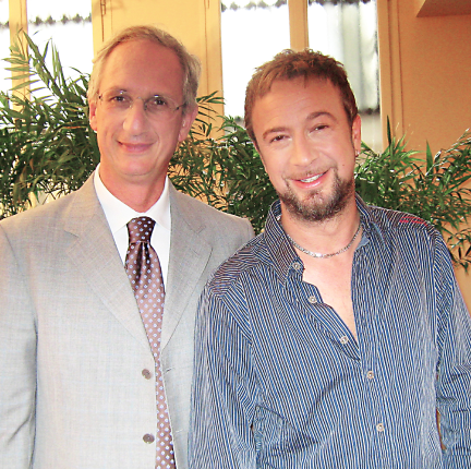 Il Dottor Fusco ed il cantante Marco Masini