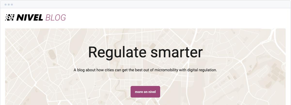 Nivels blog: Regulate smarter