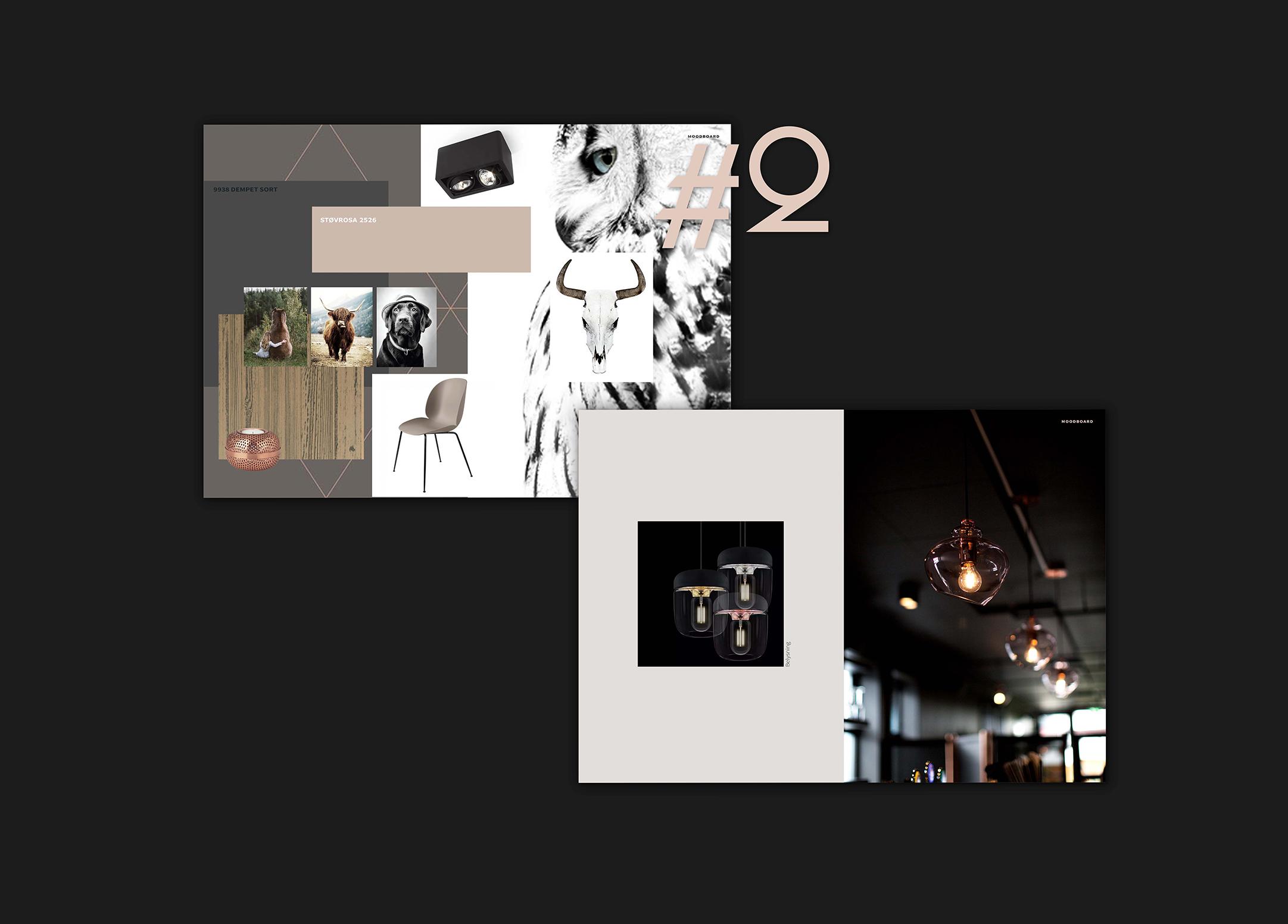 Presentasjon av interiørarkitektur utført av RåW studio