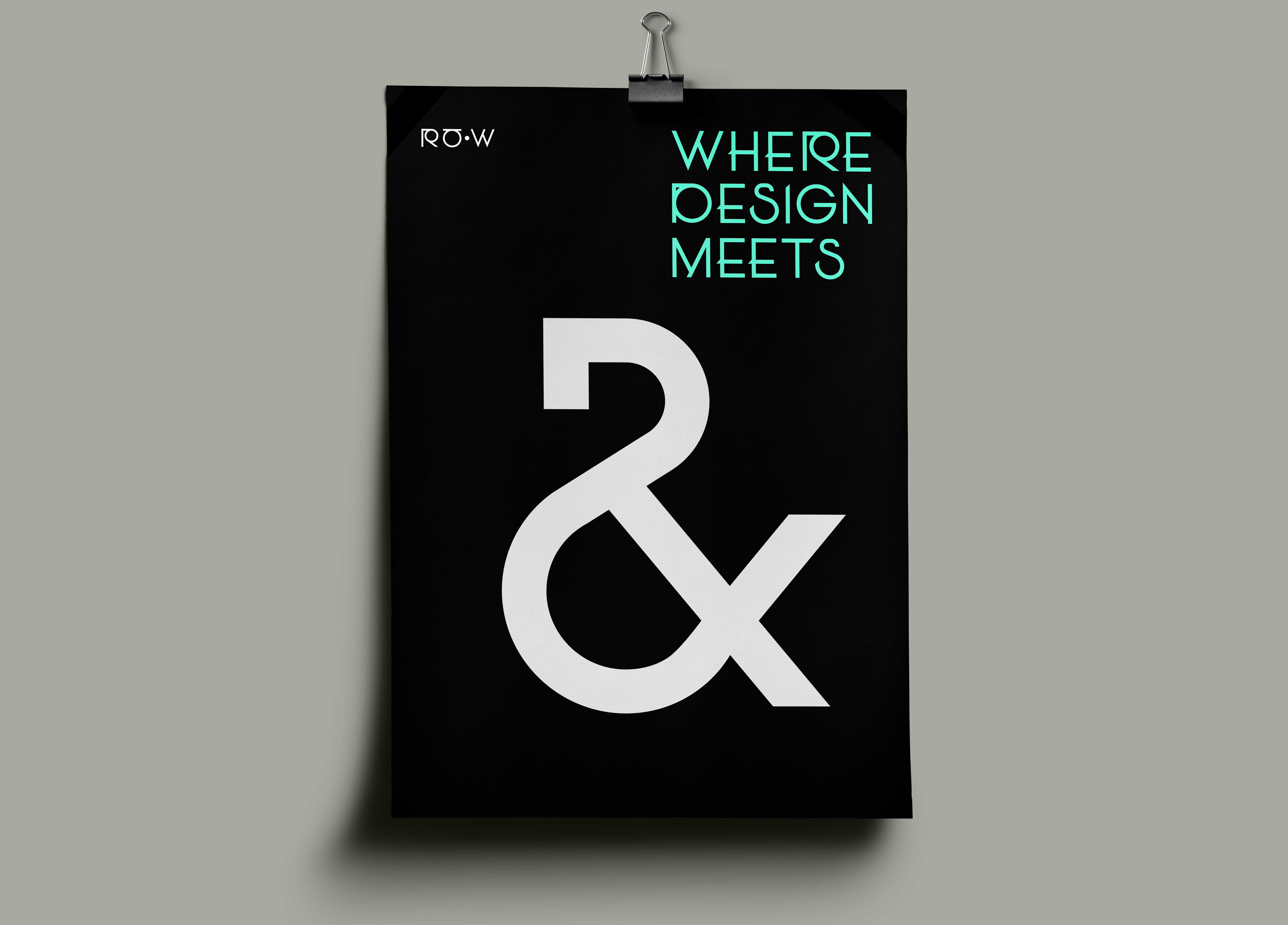 RåW Typeface dekorativt på poster med tagline - where design meets