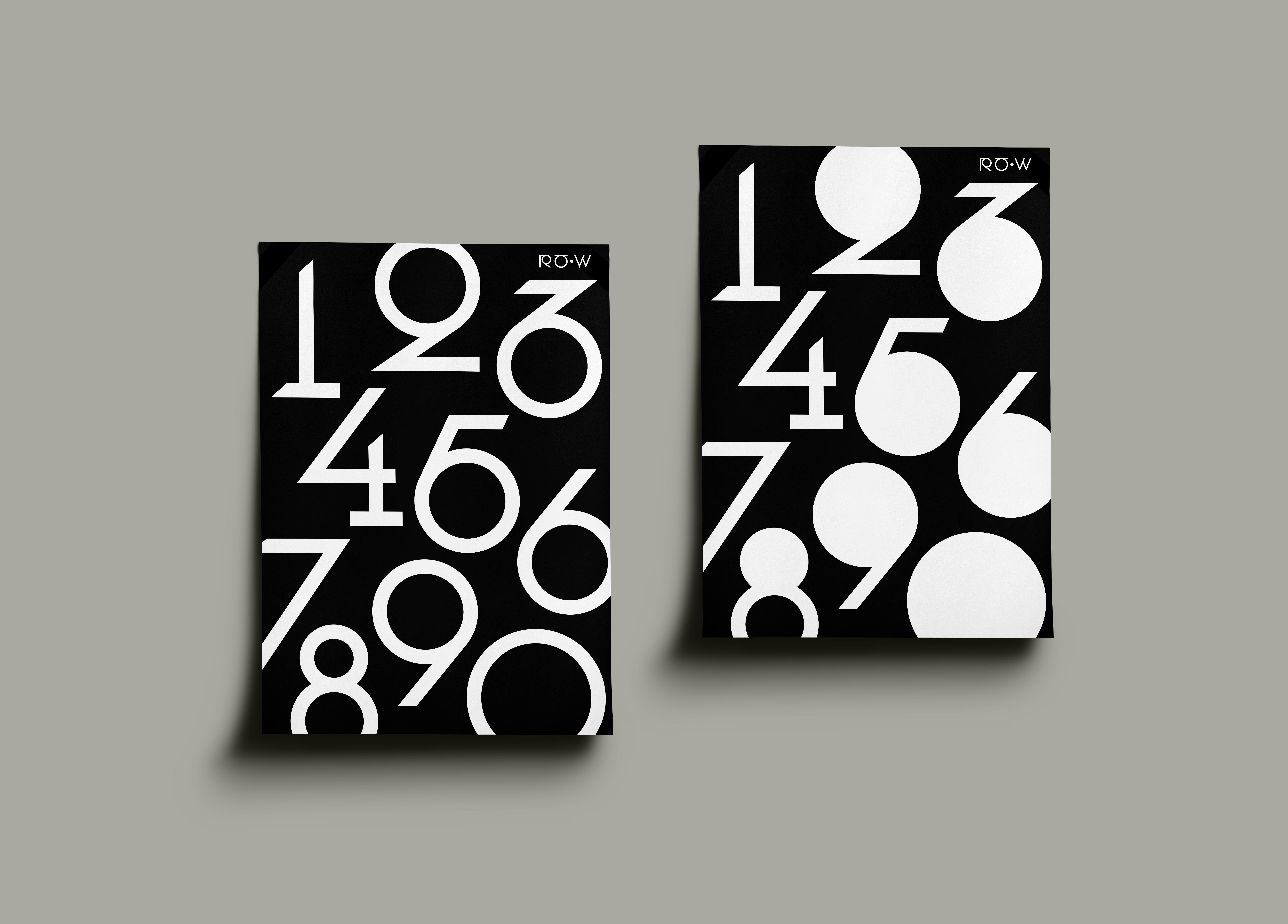 RåW Typeface og nummer som dekorelement på poster