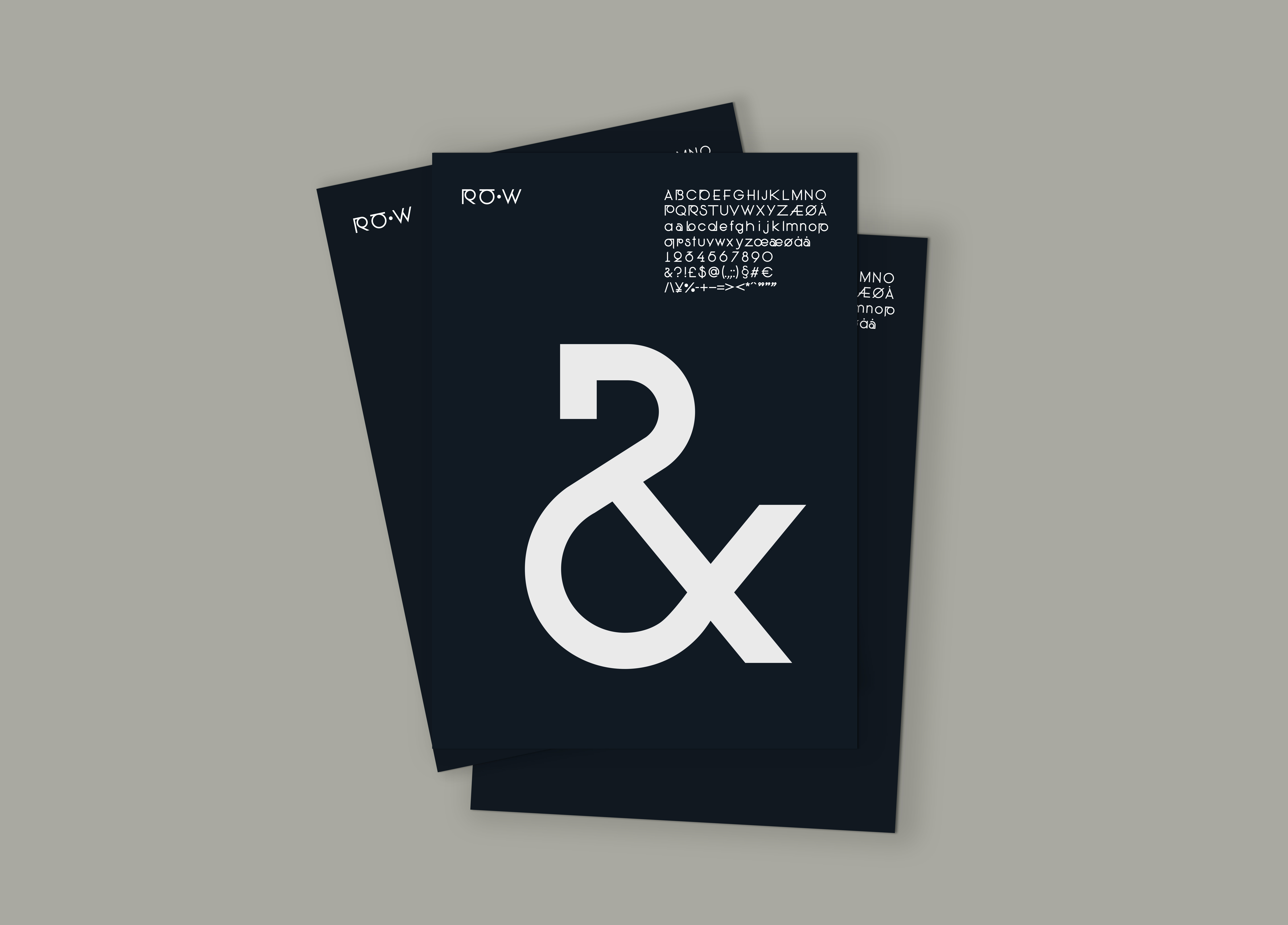 RåW Typeface dekorativt på poster