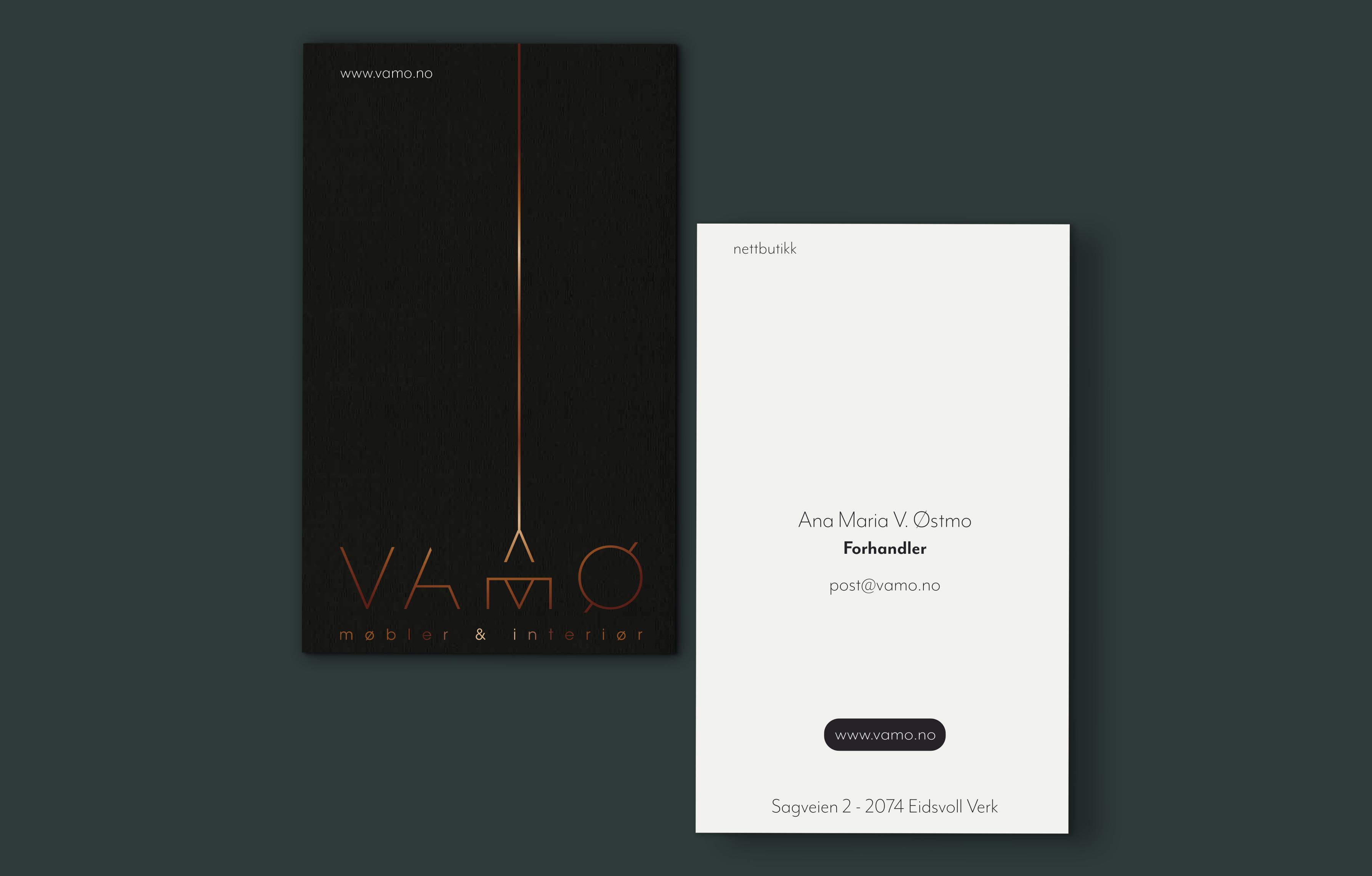VAMØ Møbler & Interiør / Visittkort