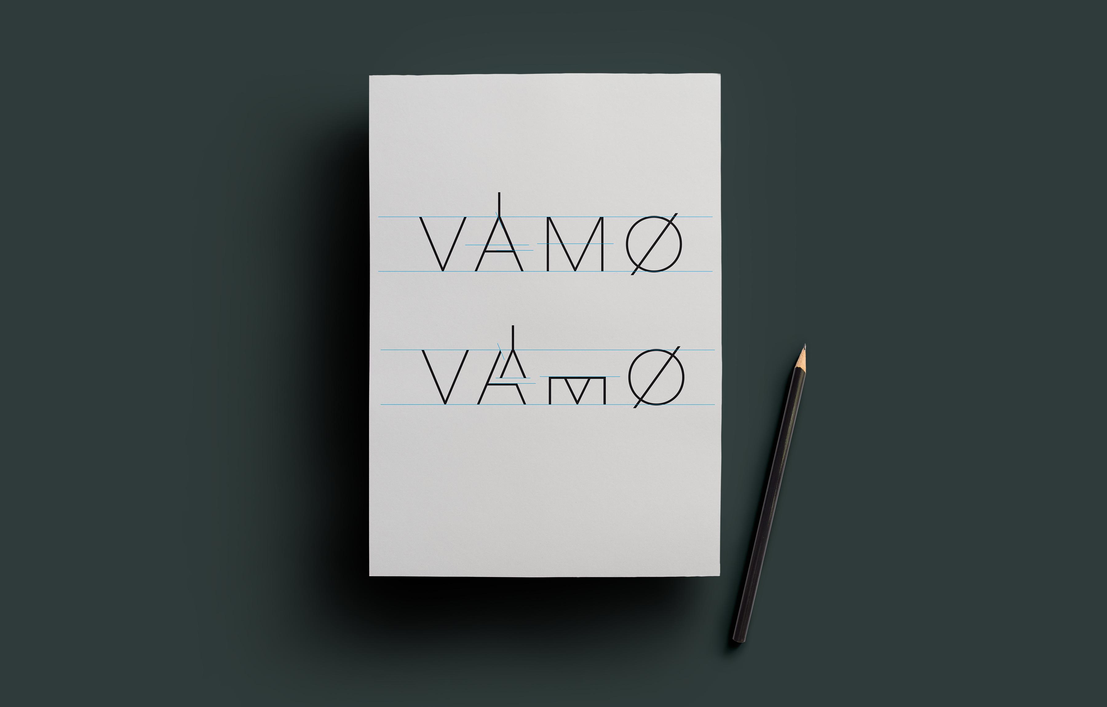 VAMØ Møbler & Interiør logo presentert på ark