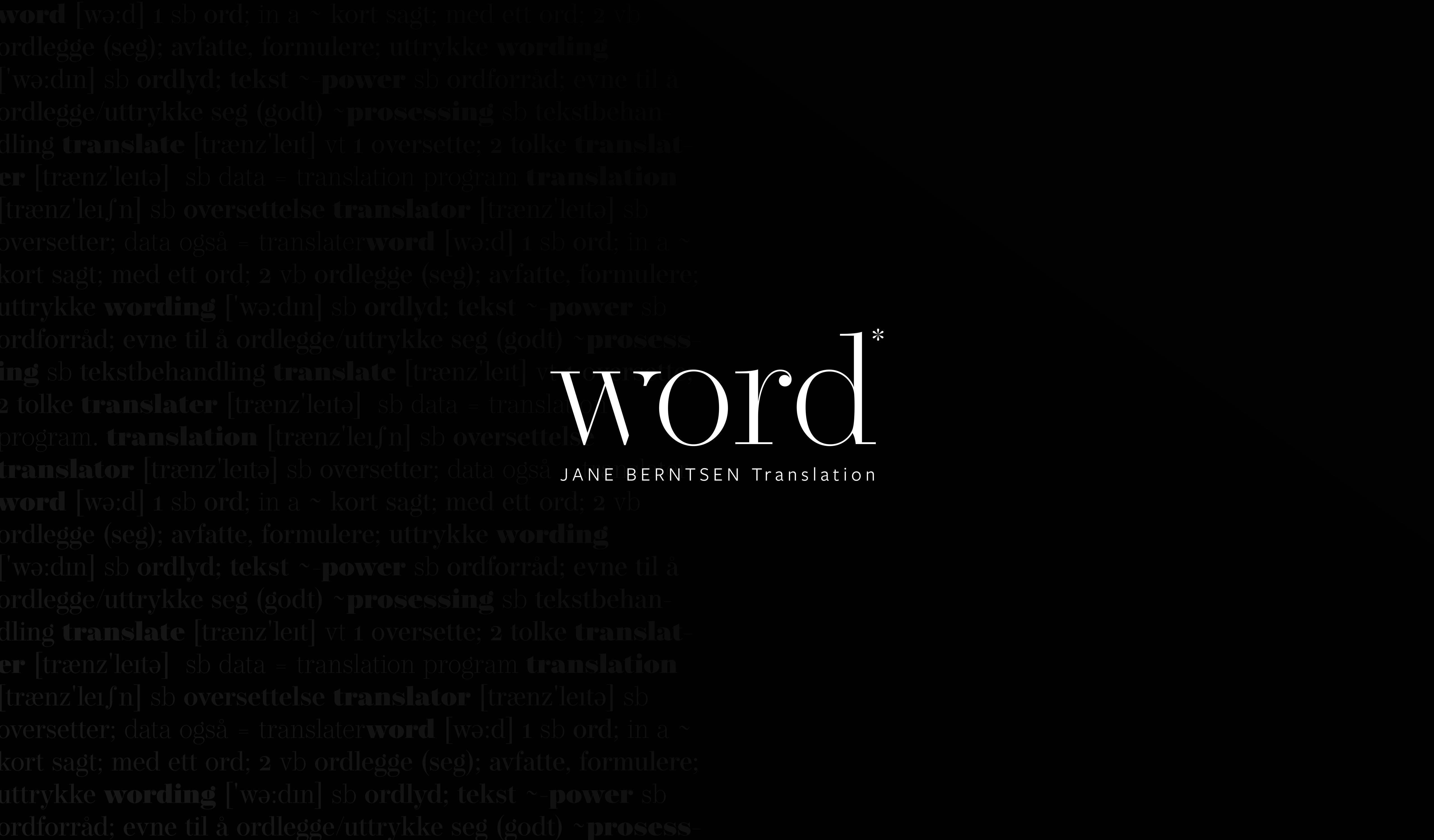 Logo og visuell profil / Word Translation