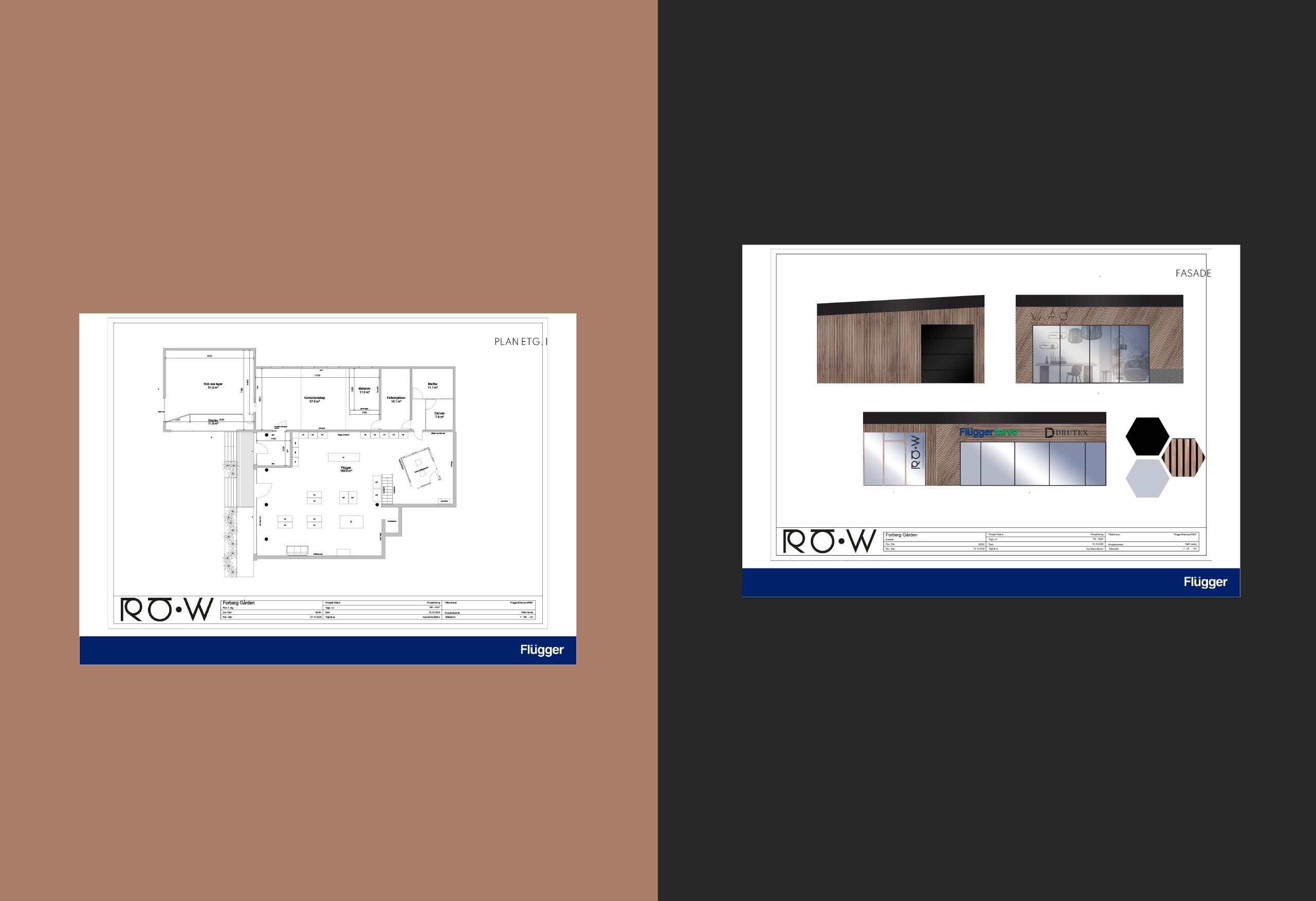 Plantegning interiør og eksteriør - Flügger farve Råhold