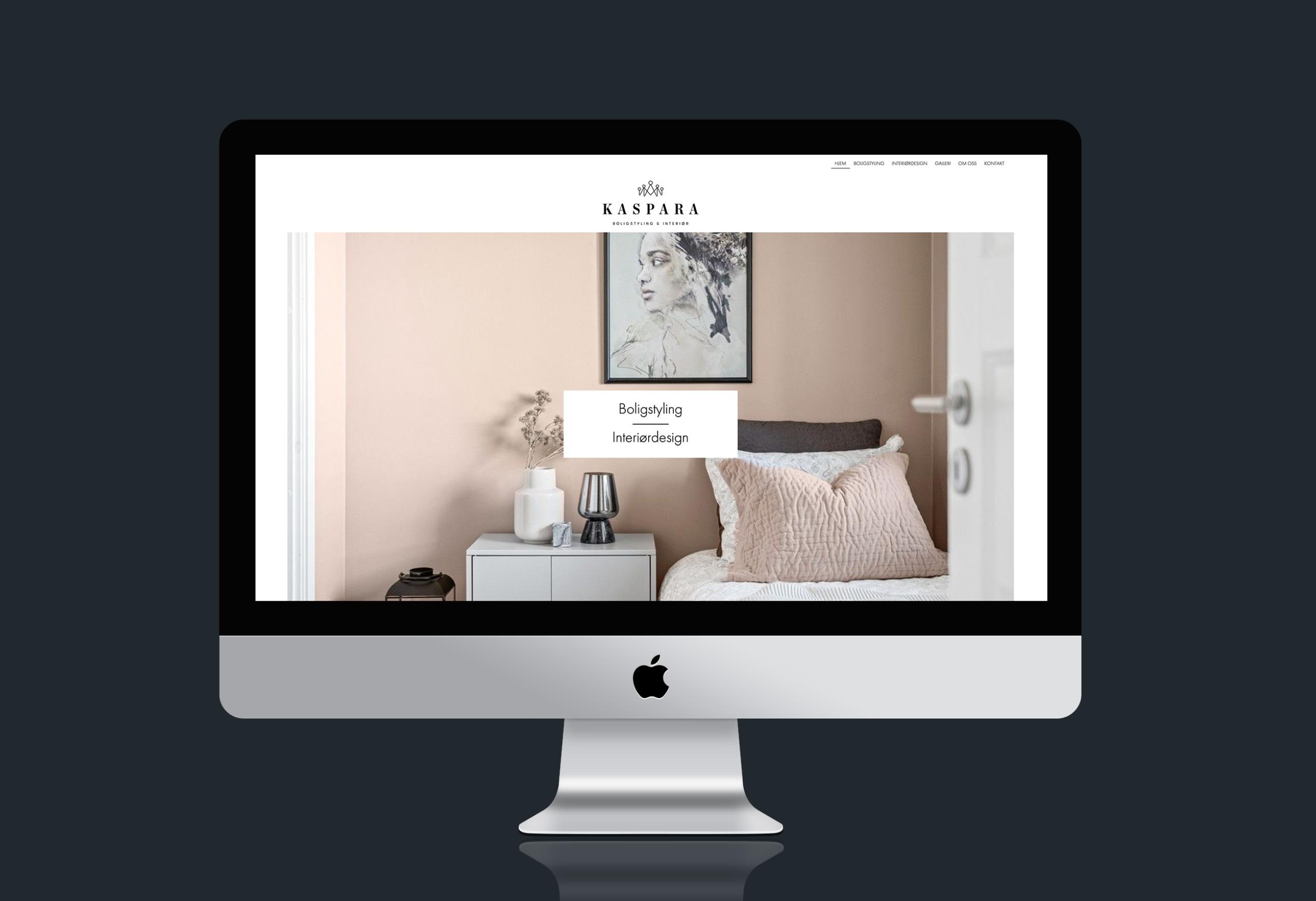 Nettside for Kaspara Boligstyling & Interiør