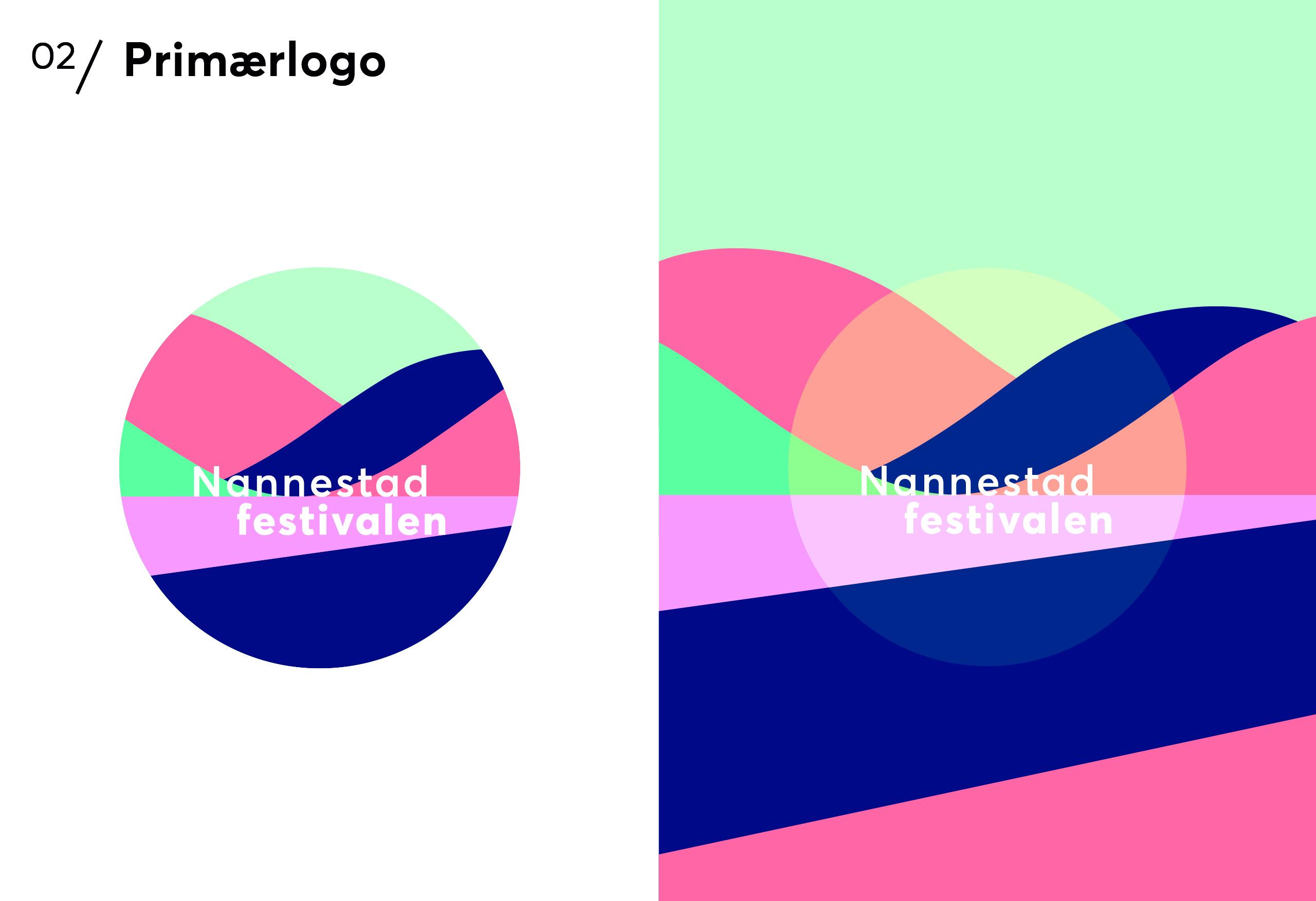 Logo Nannestadfestivalen laget av RåW studio