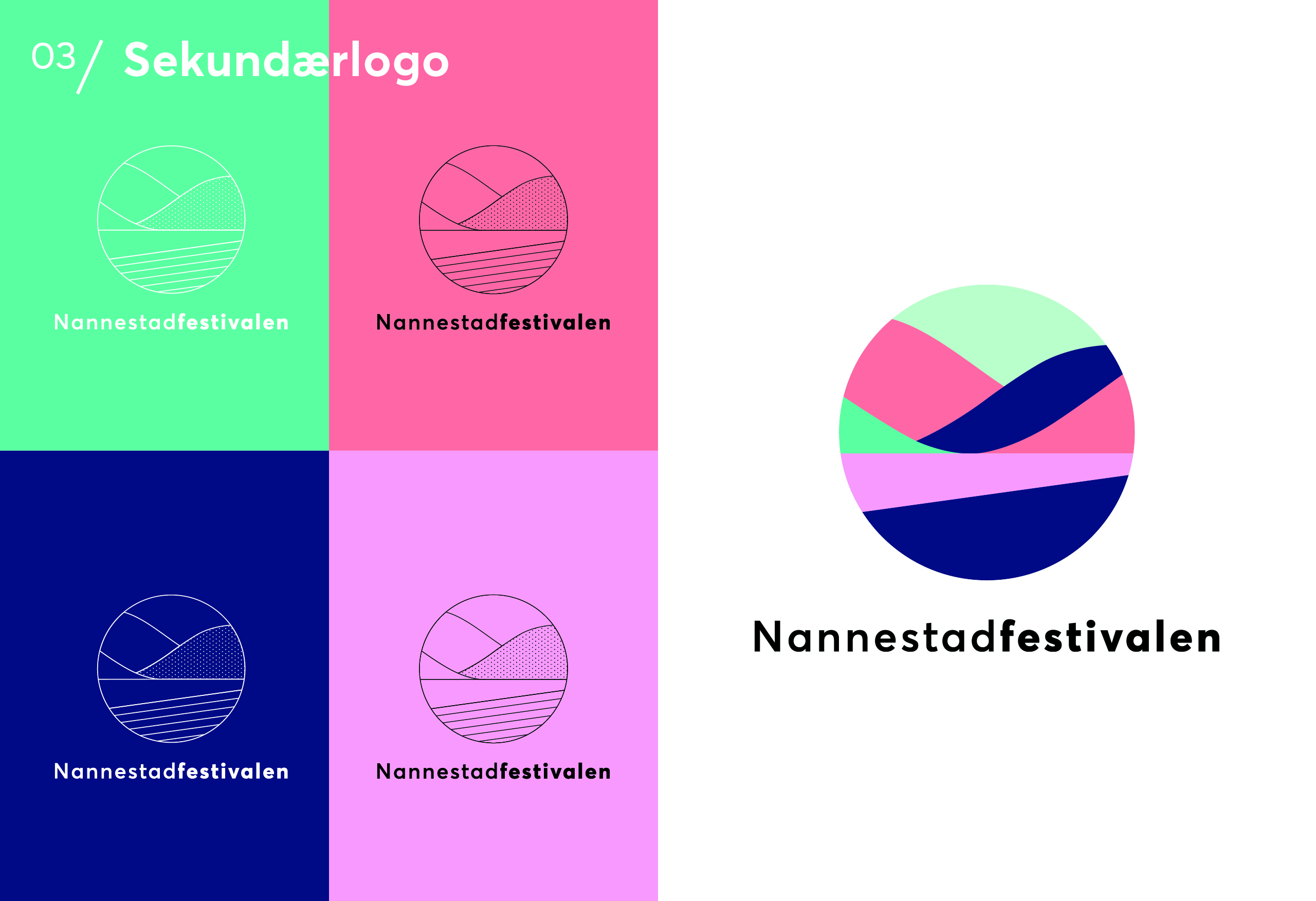 Nannestadfestivalen, ny logo i farger og monikrom
