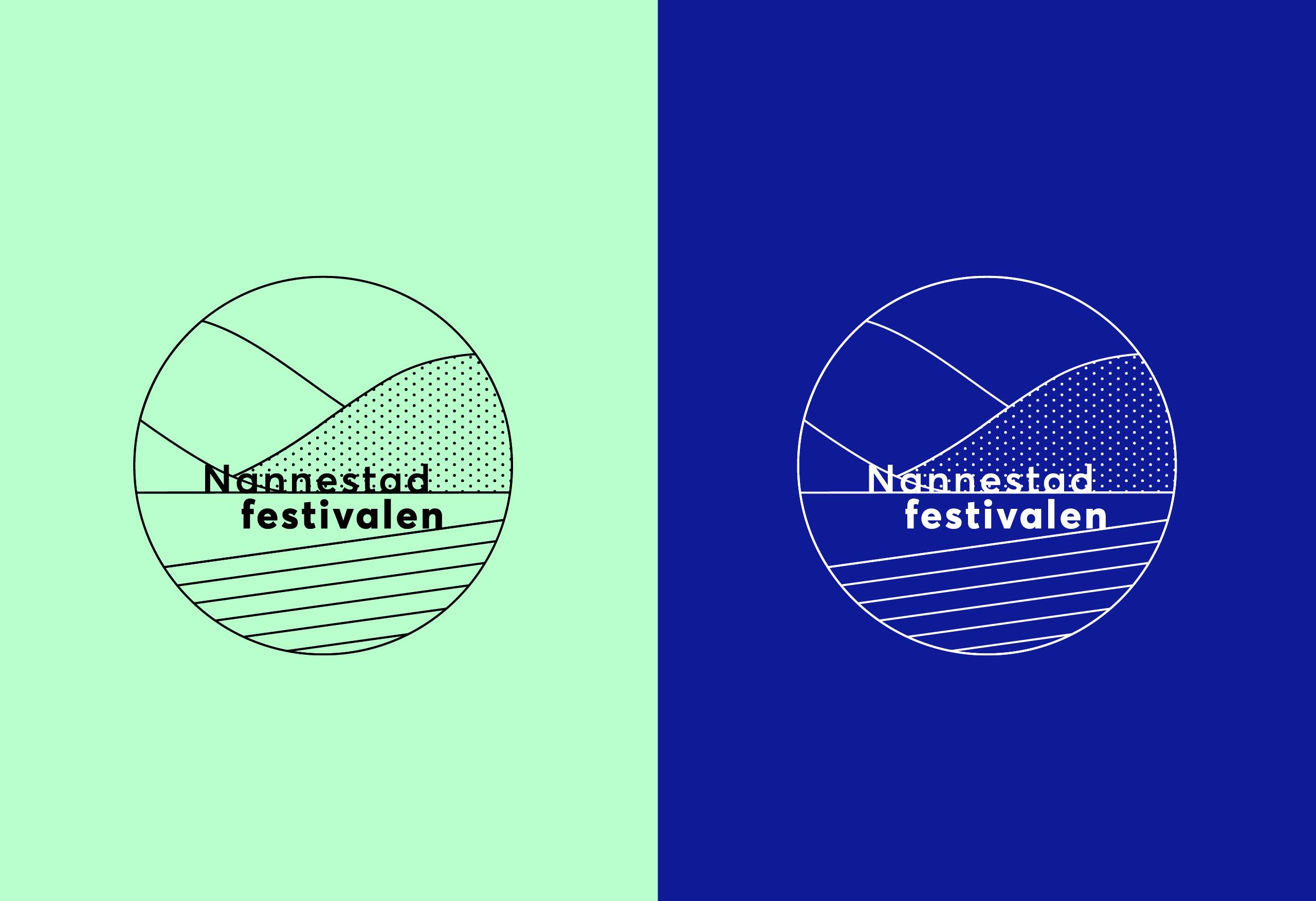 Monokrom logo, Nannestadfestvialen, laget av RåW studio