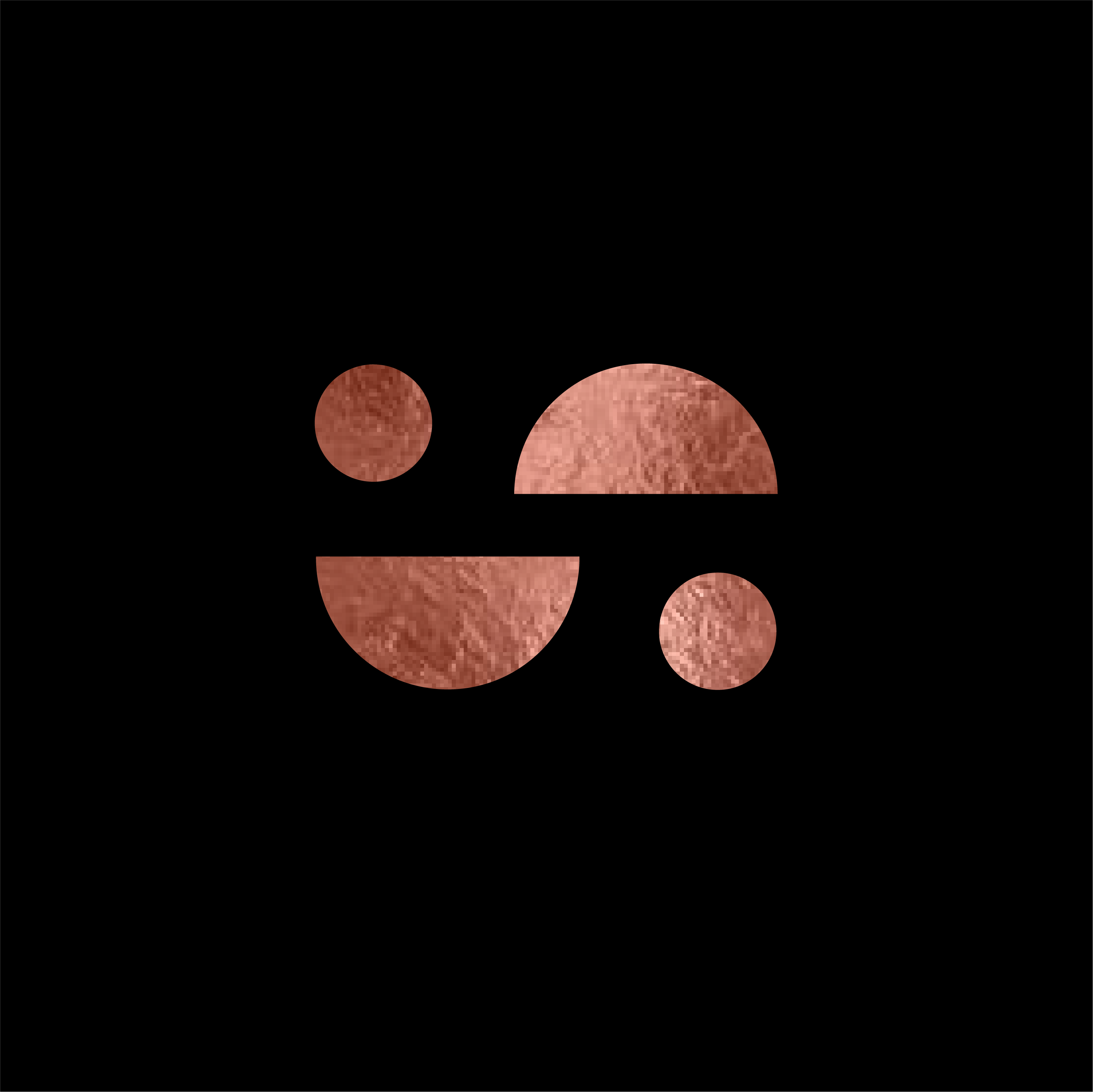 Studio London Co Logo - S Clock wise rotated Logo Rose Gold Foil with black background