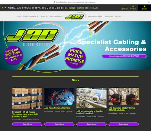 JAC web homeage