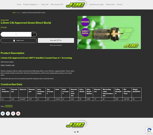 JAC product details screenshot