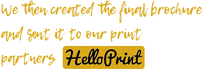 Brochure explainer for printing services