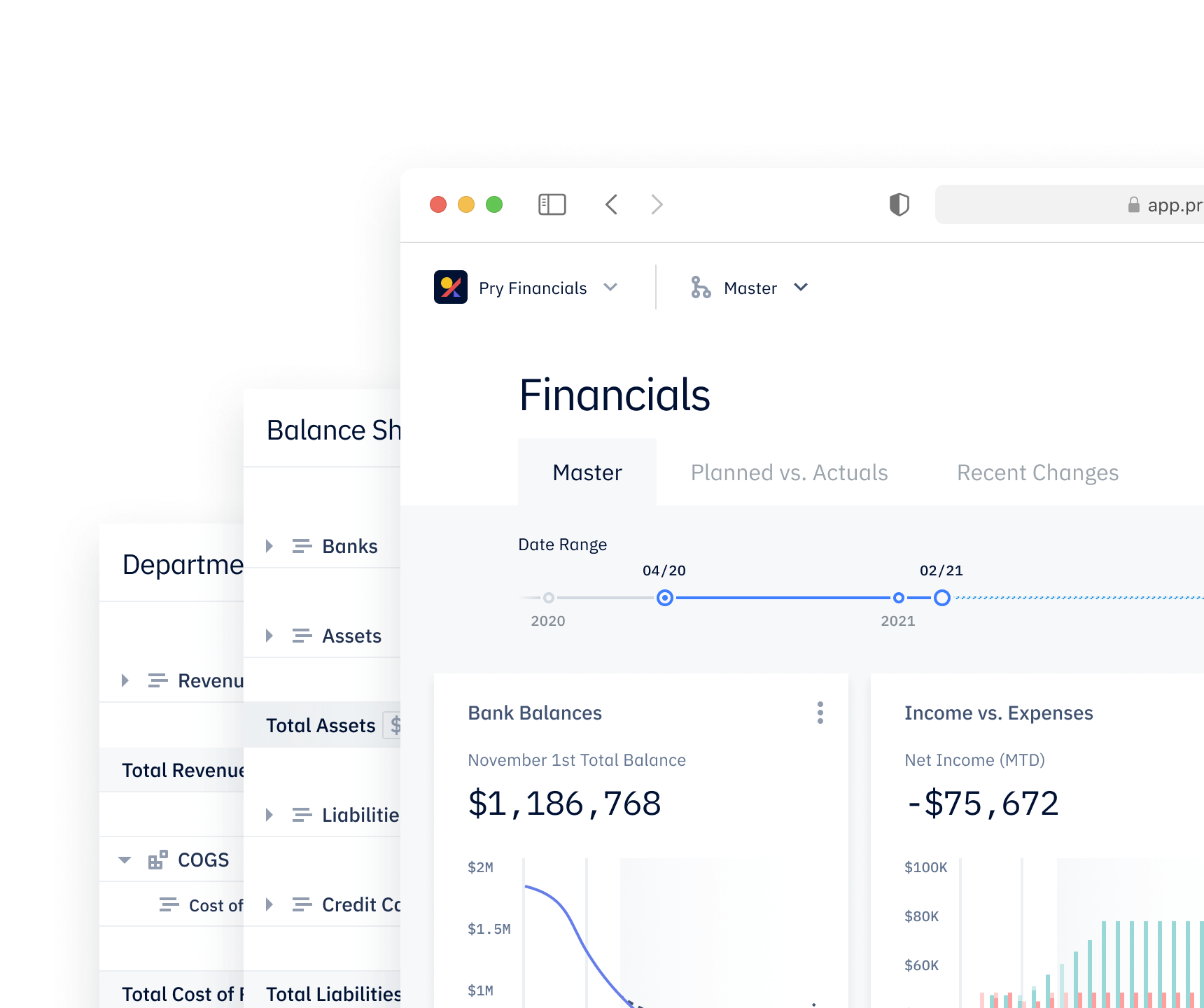 A financial forecasting app with 3 way financial statements and cash flow analysis