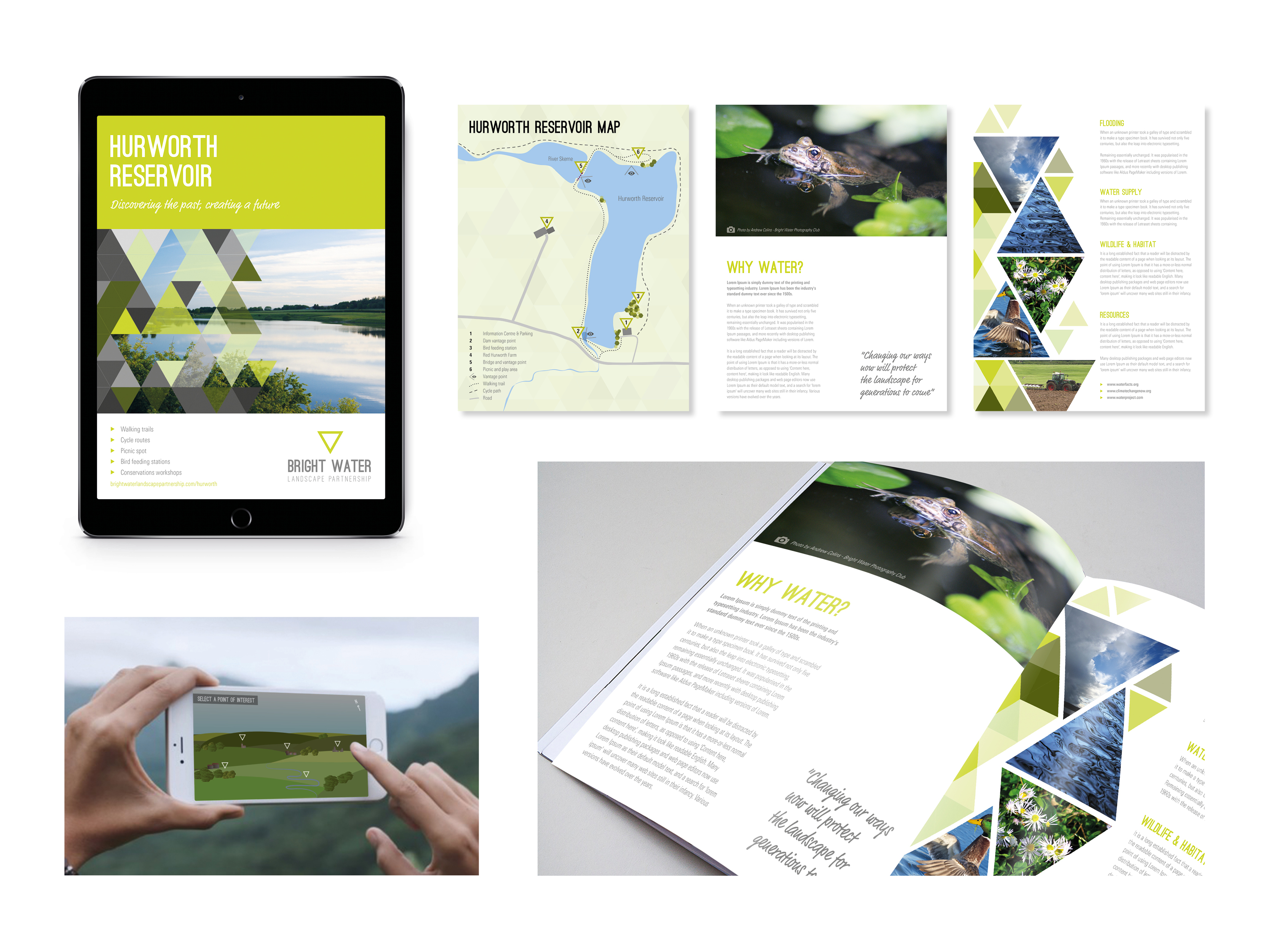 Printed and digital tourist guide and augmented reality app concept